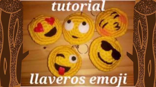 Como Hacer Llaveros Emojis a Crochet
