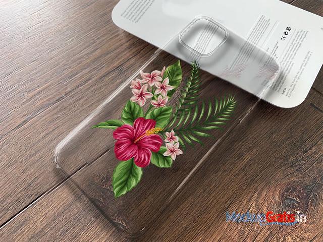 Contoh Mockup Softcase iPhone 11 Pro MAX Transparan (Tanpa HP)