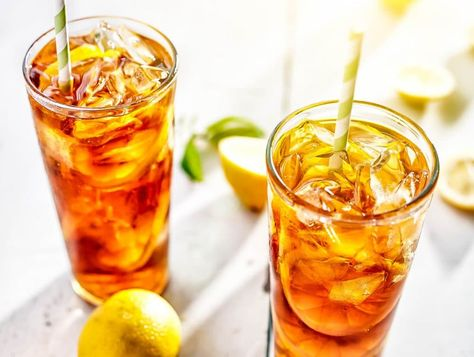Sweet Lemon Iced Tea  #healthydrink #easyrecipe #cocktail #smoothie