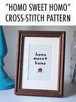 Nothing says homey like a subversive cross-stitch