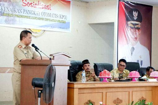 Sekda Buka Sosialisasi KPO, ASN Jajaran Pemkab.Kep. Selayar