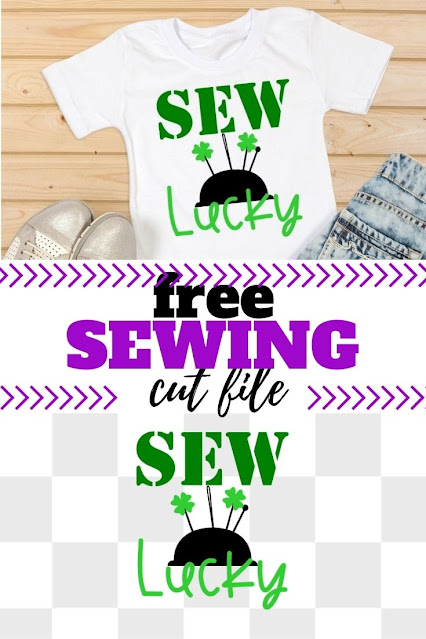 Make your own DIY sewing tee with this st patricks svg free.