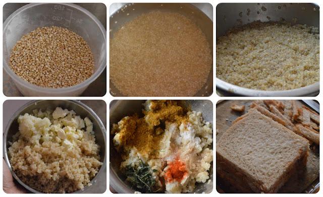 Quinoa paneer bread rolls
