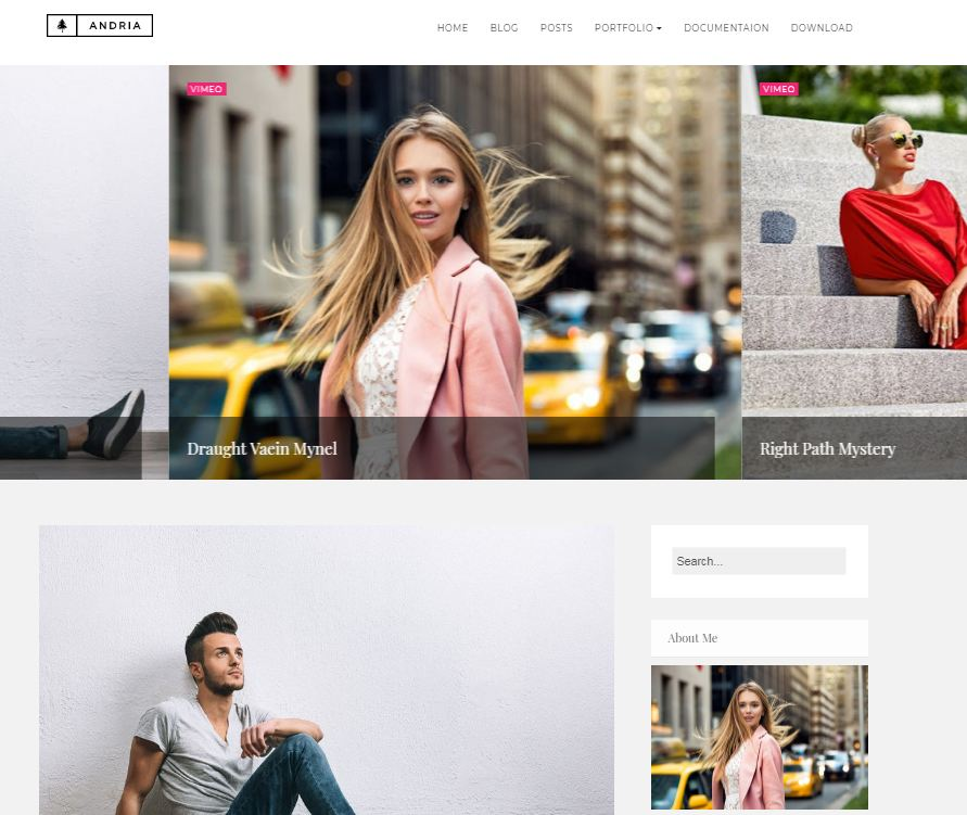 Andria free blogger templates for photographs