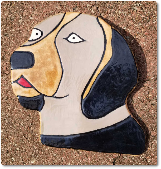 Ceramic wall decor dog number 1