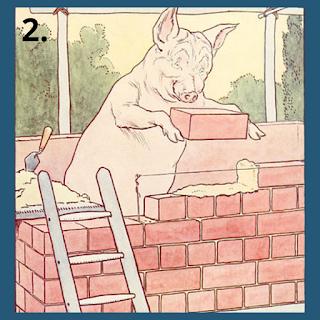 Pig making home moral story in Hindi