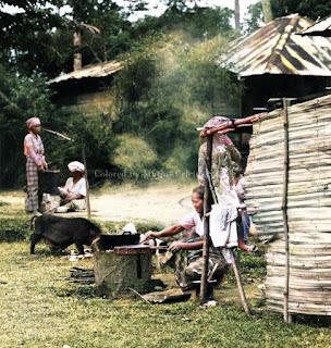 orang orang memasak dengan udara terbuka