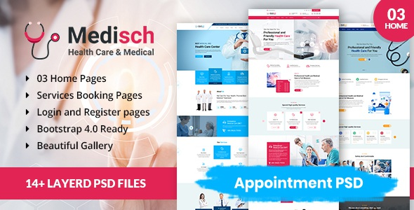 Download health care appointment PSD template