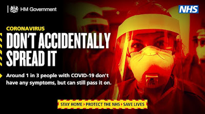 Dont' accidentally spread COVID image of man wearing face mask