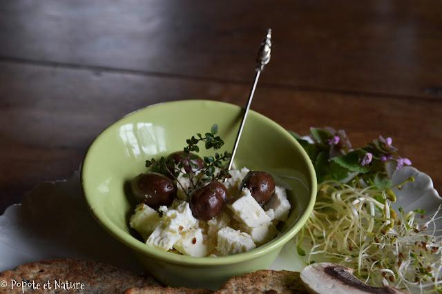 Galettes et salade de feta -ig bas © Popote et Nature