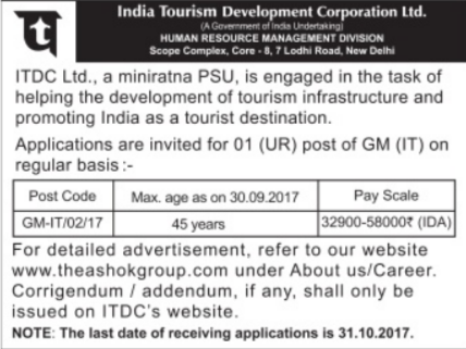 ITDC Recruitment