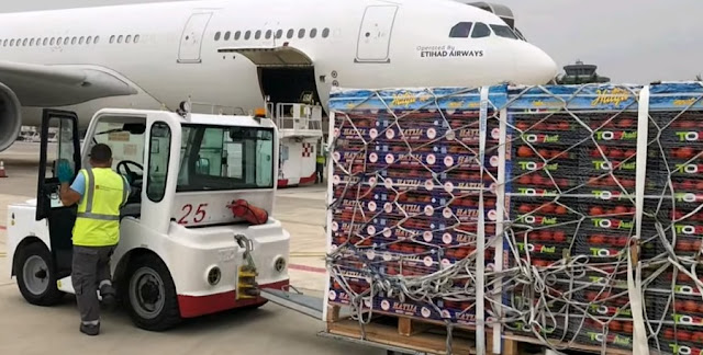 Albanian tomatoes being transported by plane to Dubai