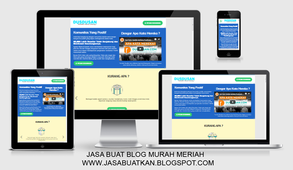 icon jasa web blog landing page blogspot murah