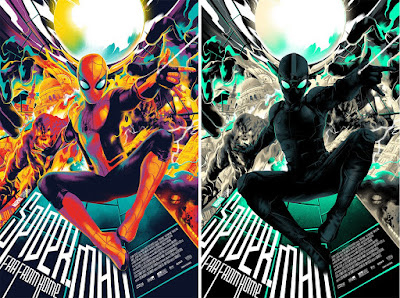Spider-Man: Far From Home Movie Poster Screen Print by Matt Taylor x Mondo
