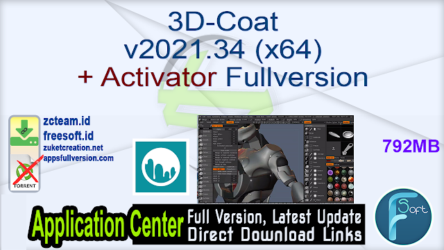 3D-Coat v2021.34 (x64) + Activator Fullversion
