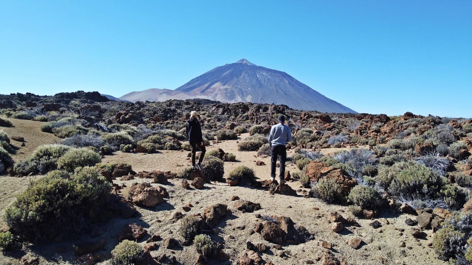 Wulkan Teide zimą wejście