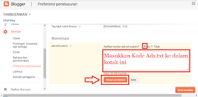 Cara Membuat File Ads.txt Di Blogger