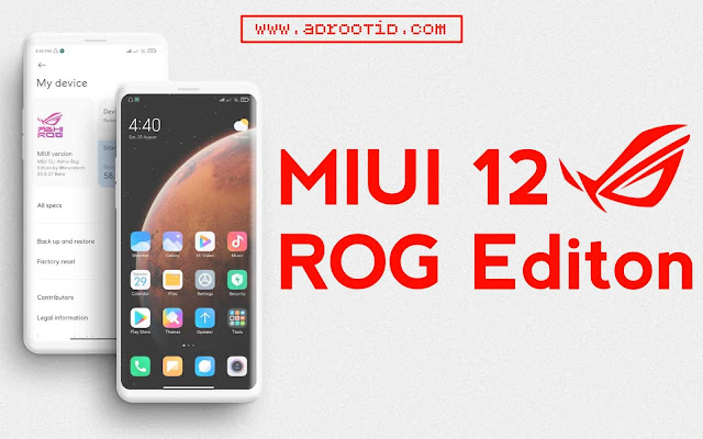 MIUI 12 ROG Edition for Redmi Note 7 Pro | Violet