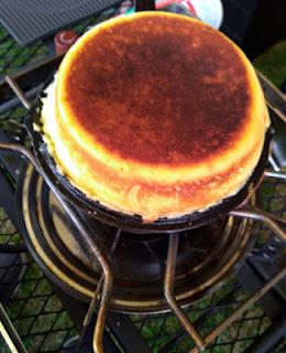 スキレットで極厚パンケーキ作り