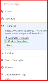 how to set SEO friendly custom permalink