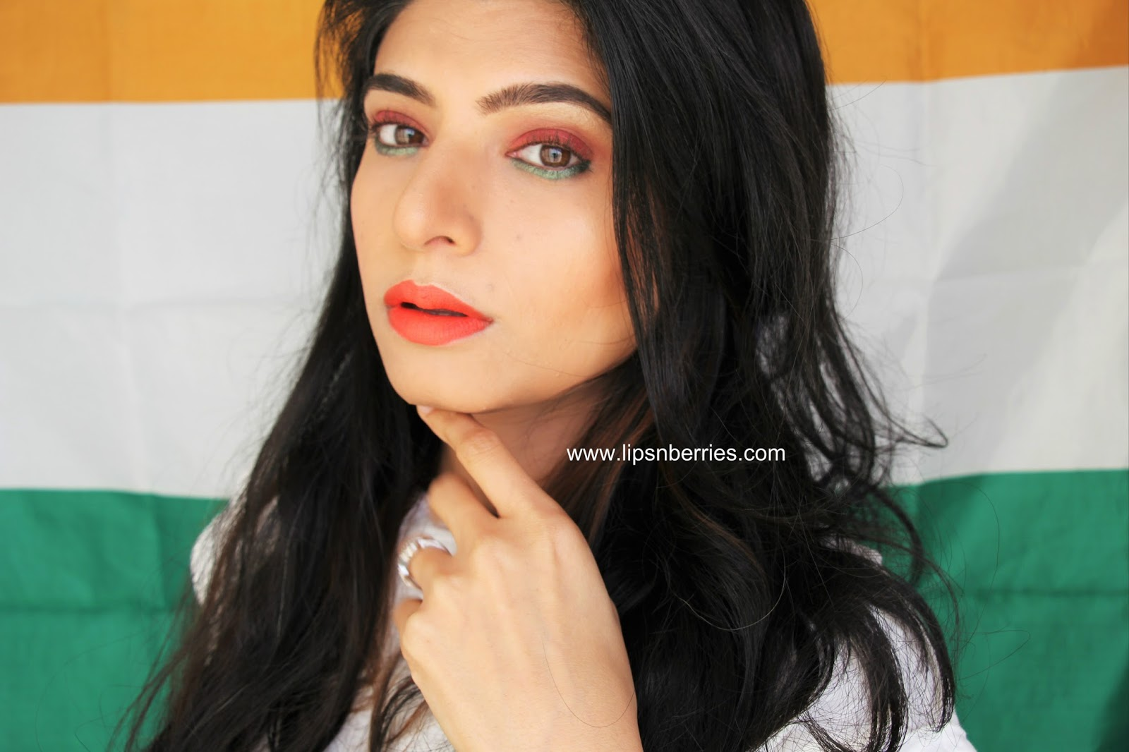 Independence Day Special Indian Flag Tricolor Inspired Makeup Lips N Berries
