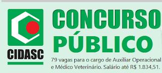 Apostila Concurso CIDASC Auxiliar Operacional (PDF)