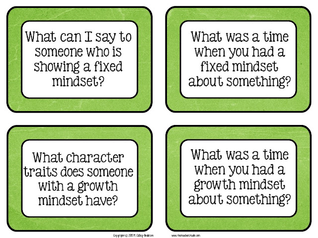 lesson plans growth mindset