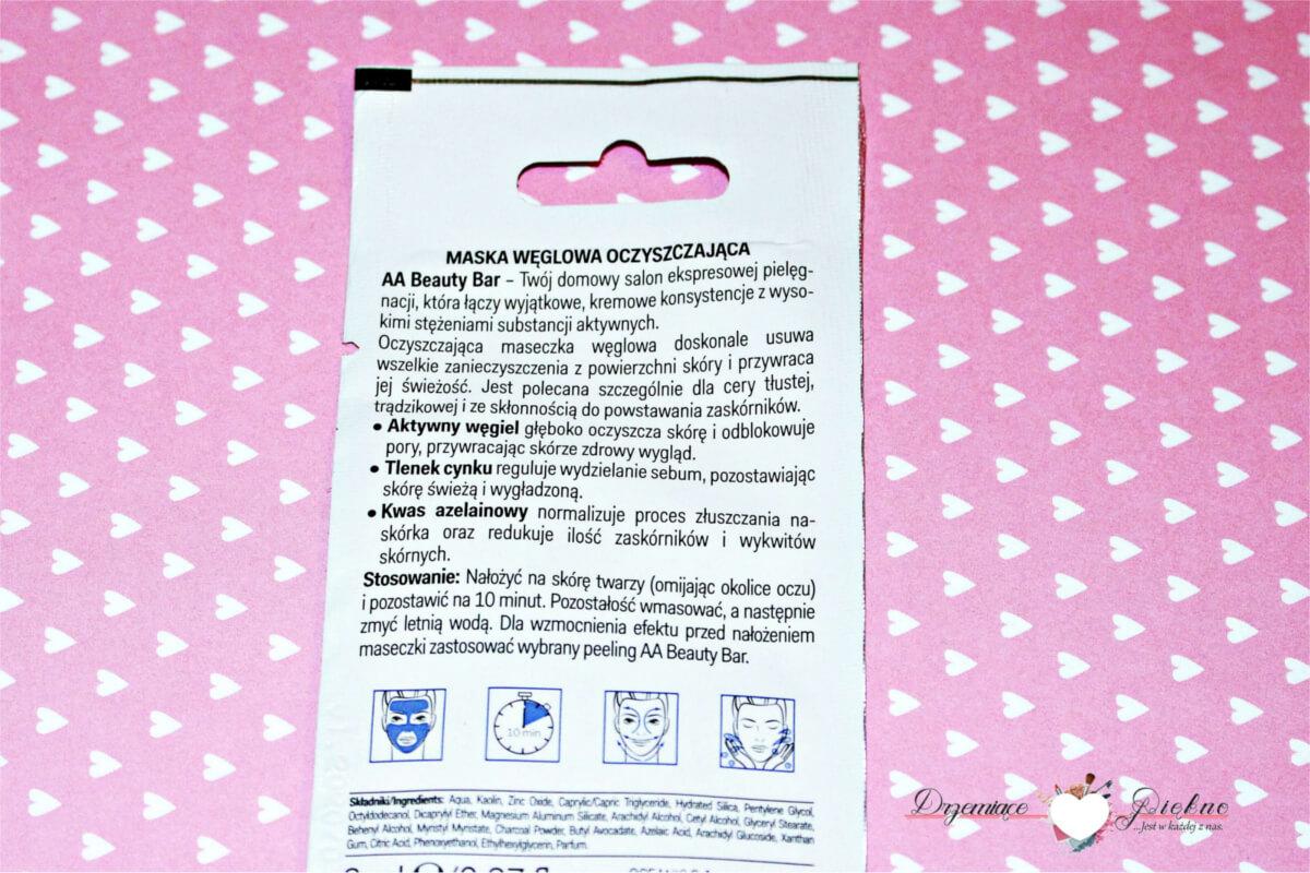 AA Beauty Bar, oczyszczająca węglowa maska do twarzy