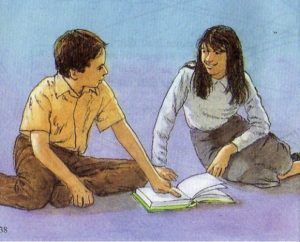 Ragazzi che leggono la Bibbia