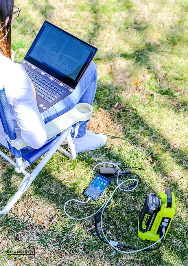 Charge your electronics on the go, while camping, etc.