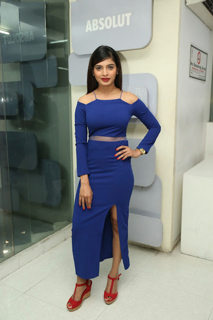 Actress Sanchita Shetty Latest Photos in Blue Outfit Navel Queens