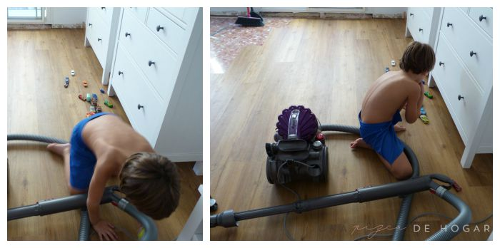 Cómo colocar suelo vinílico con sistema click con niños en casa