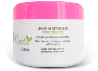 Ingredientes da composição do Creme para Pentear Amor Crescido - Nyata (com óleo de coco, pantenol e colágeno)