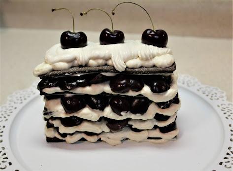 No Bake Chocolate Cherry Cake