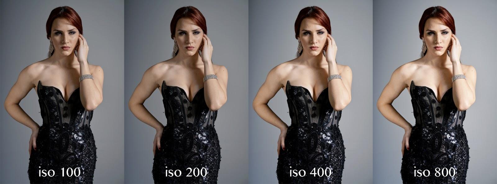 Ilustrasi efek perbedaan ISo pada fotogrfai Ondoor model seksi