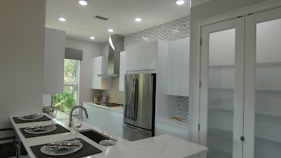 Hidden Creek contemporary theme model home kitchen