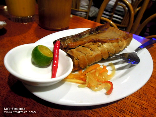 Grilled tuna belly at Kinabuchs in Puerto Princesa City