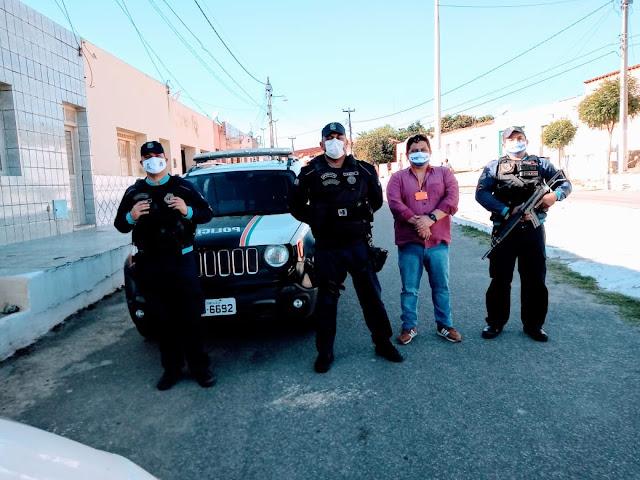 Secretaria de Saúde de Aurora/Vigilância Sanitária e Polícia Militar realizam operação de combate a Covid19 no município