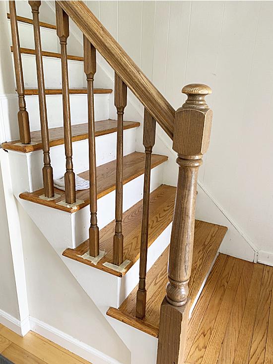 stair railings before