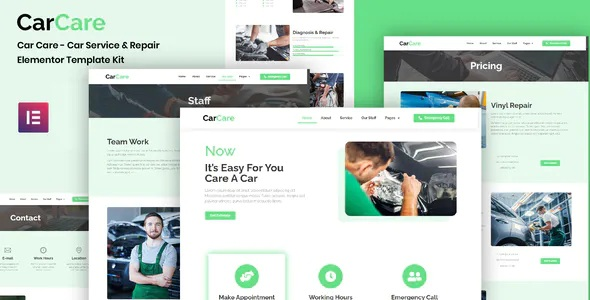 Best Auto Service and Repair Elementor Template Kit