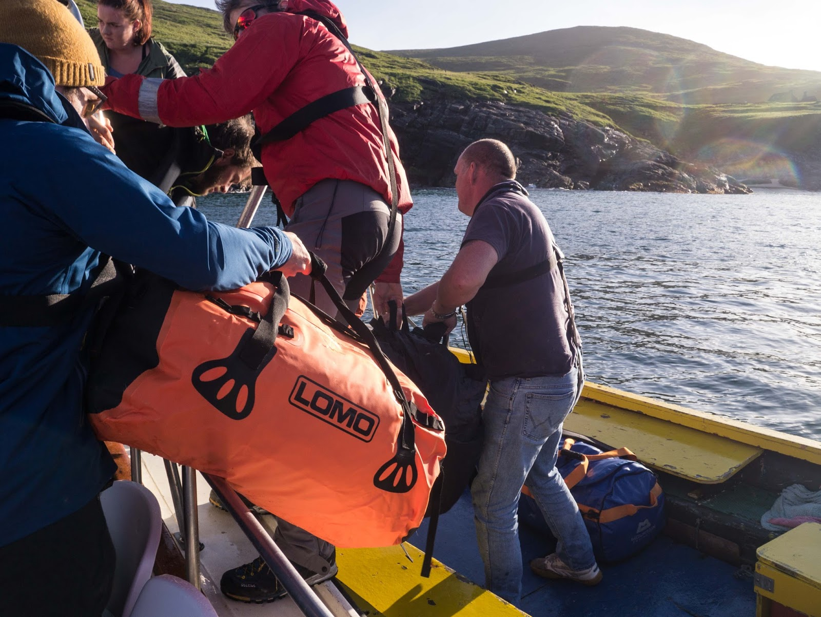 The Blaze Expedition Holdall being loaded onto a boat bc9cc00550853