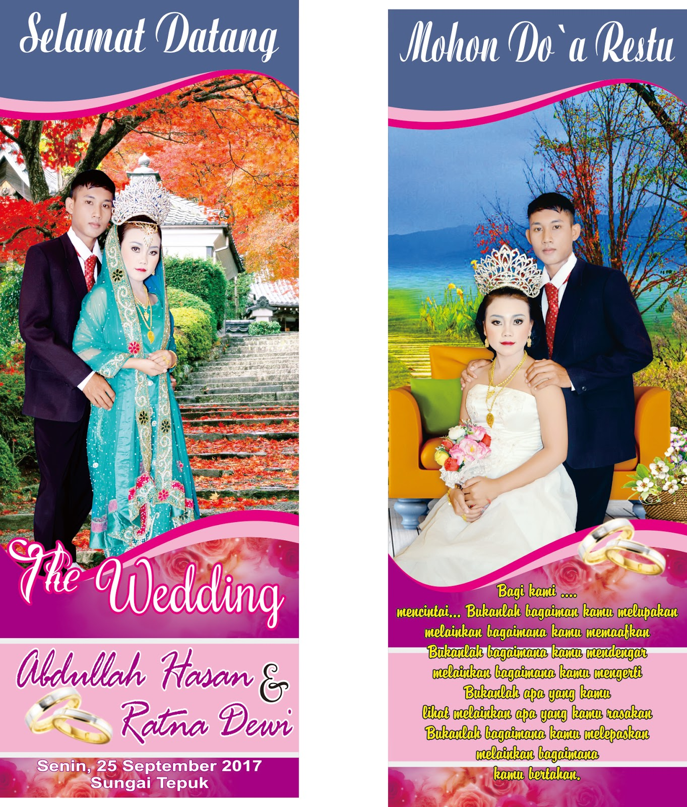 Banner Pernikahan Keren