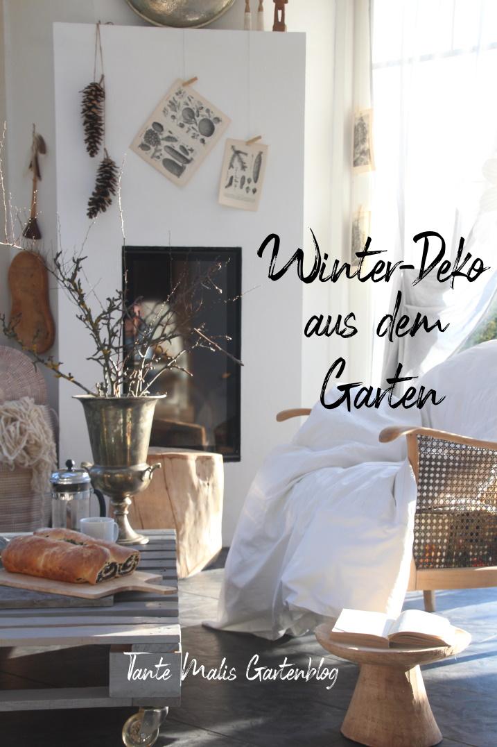 Interior Wintergarten mit Dekoration im Januar
