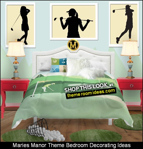 girls golf bedrooms decorating ideas  womens golf bedding girls golf bedroom decor girls sports rooms