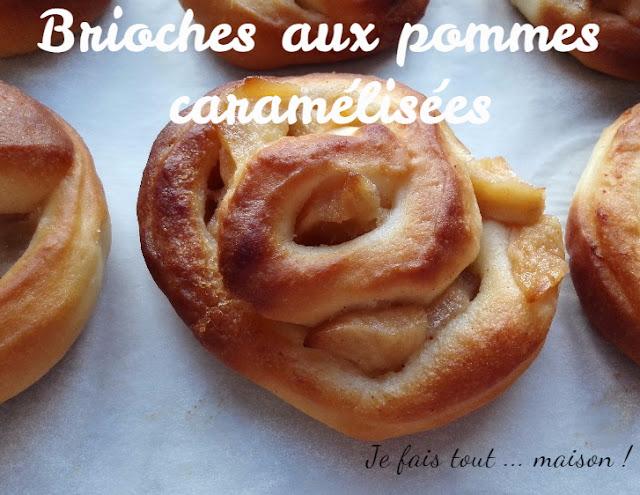 Petites brioches aux pommes caramélisées