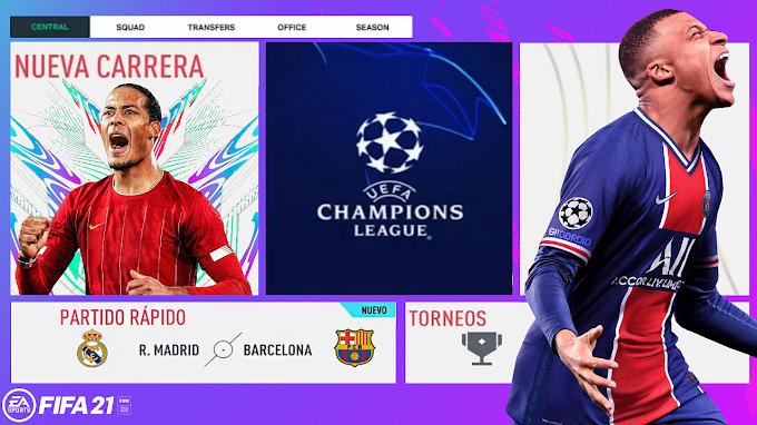 LLEGA EL MEJOR FIFA 21 REALISTA SIN INTERNET EN ANDROID, APARIENCIAS, FICHAJES Y NOVEDADES