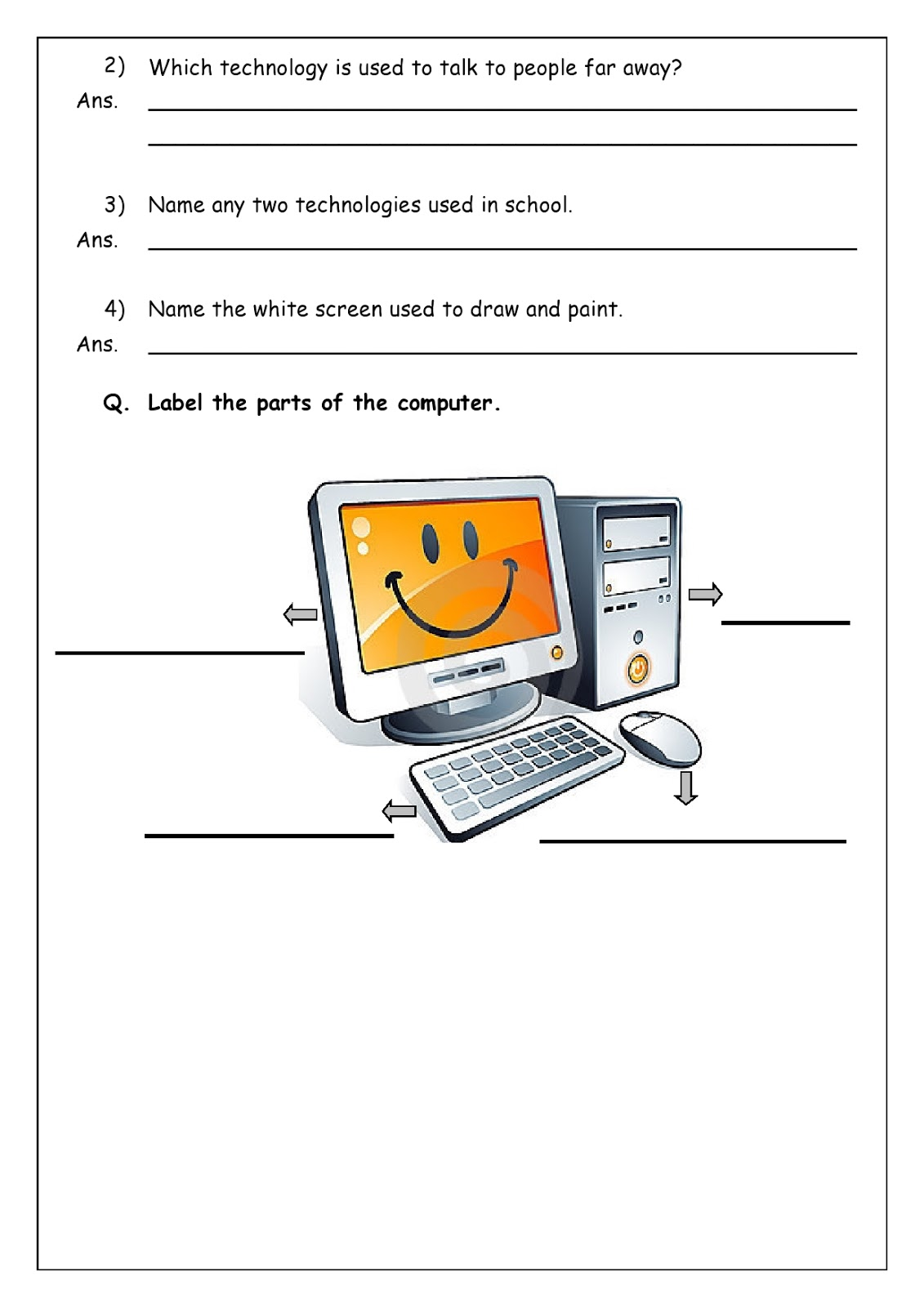 small resolution of Revision worksheets for grade 1   WORLD SCHOOL OMAN