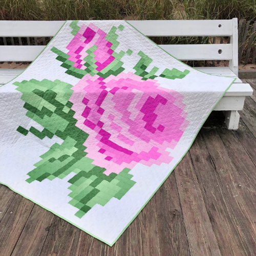 Pixelated Rose Quilt - Free Pattern