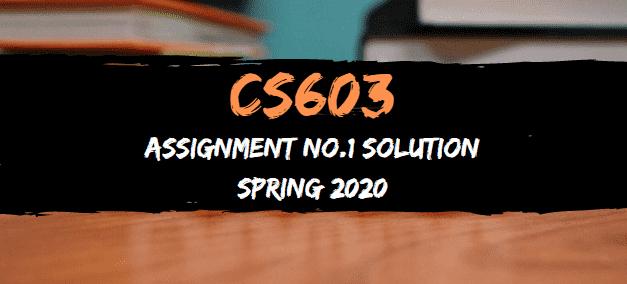 cs603 assignment