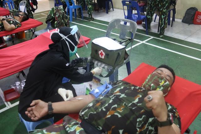 Atasi Krisis Darah, Brimob Polda Sumut Donor Darah